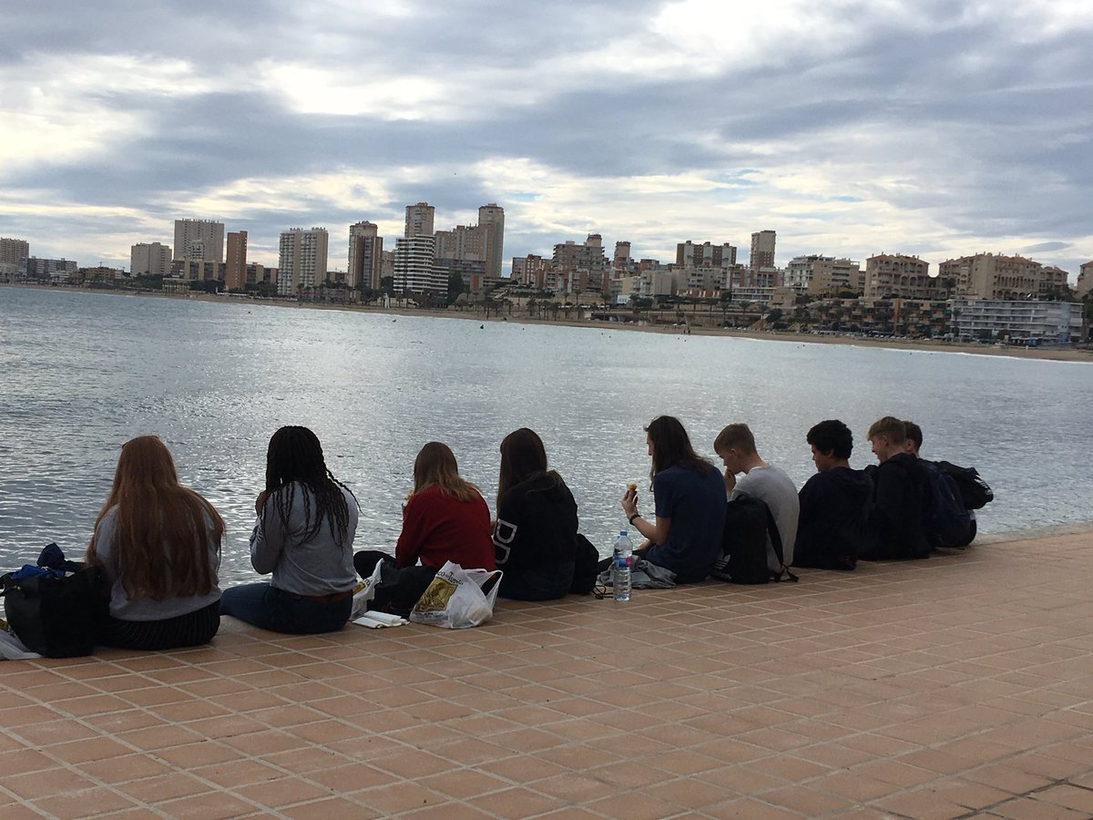 Having a break and taking it easy in Alicante - work experience placements are hard work!