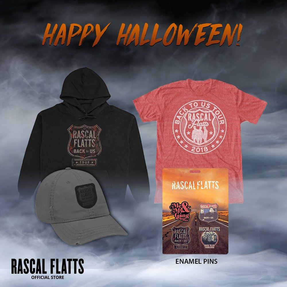Check out our Halloween sale in the online store! 🎃 Shop now for 15% off your order: bit.ly/RascalFlattsSt…