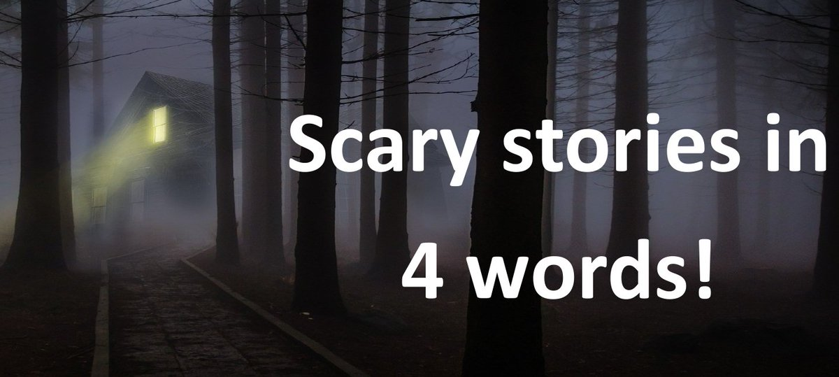 Only 2 more sleeps to Halloween! To help countdown, write the scariest story you can think of using only 4 words! And...go! Thanks to Saskatoon Public ...