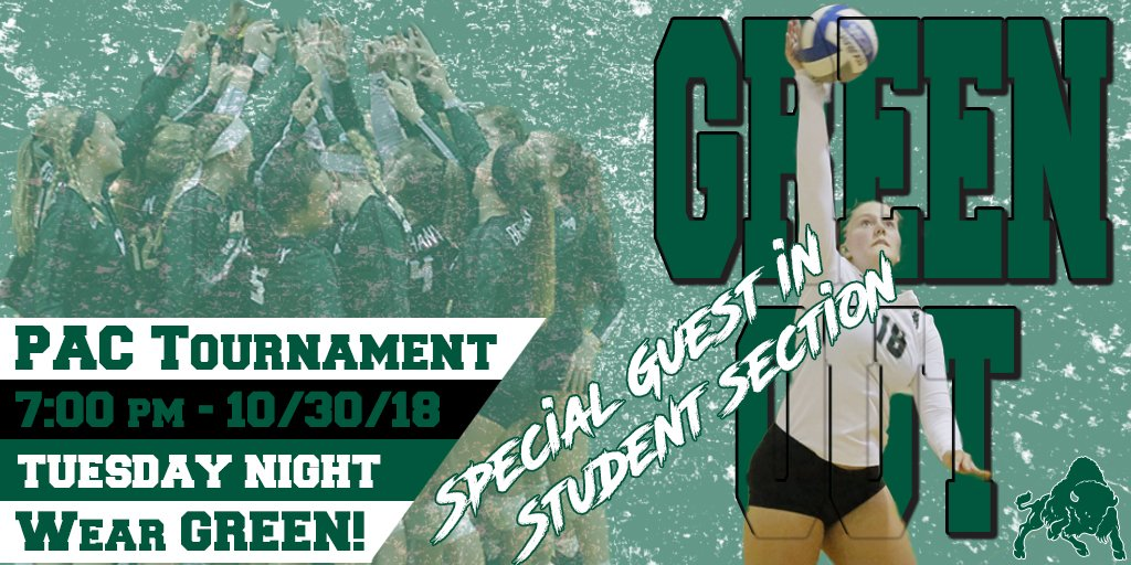 We need you tomorrow night at 7:00 pm as the @bethanyvb hosts Thiel College in the @PAC_Athletics Volleyball Tournament.  #GreenOut #BisonWearGreen #ONEBETHANY #SpecialGuestFan