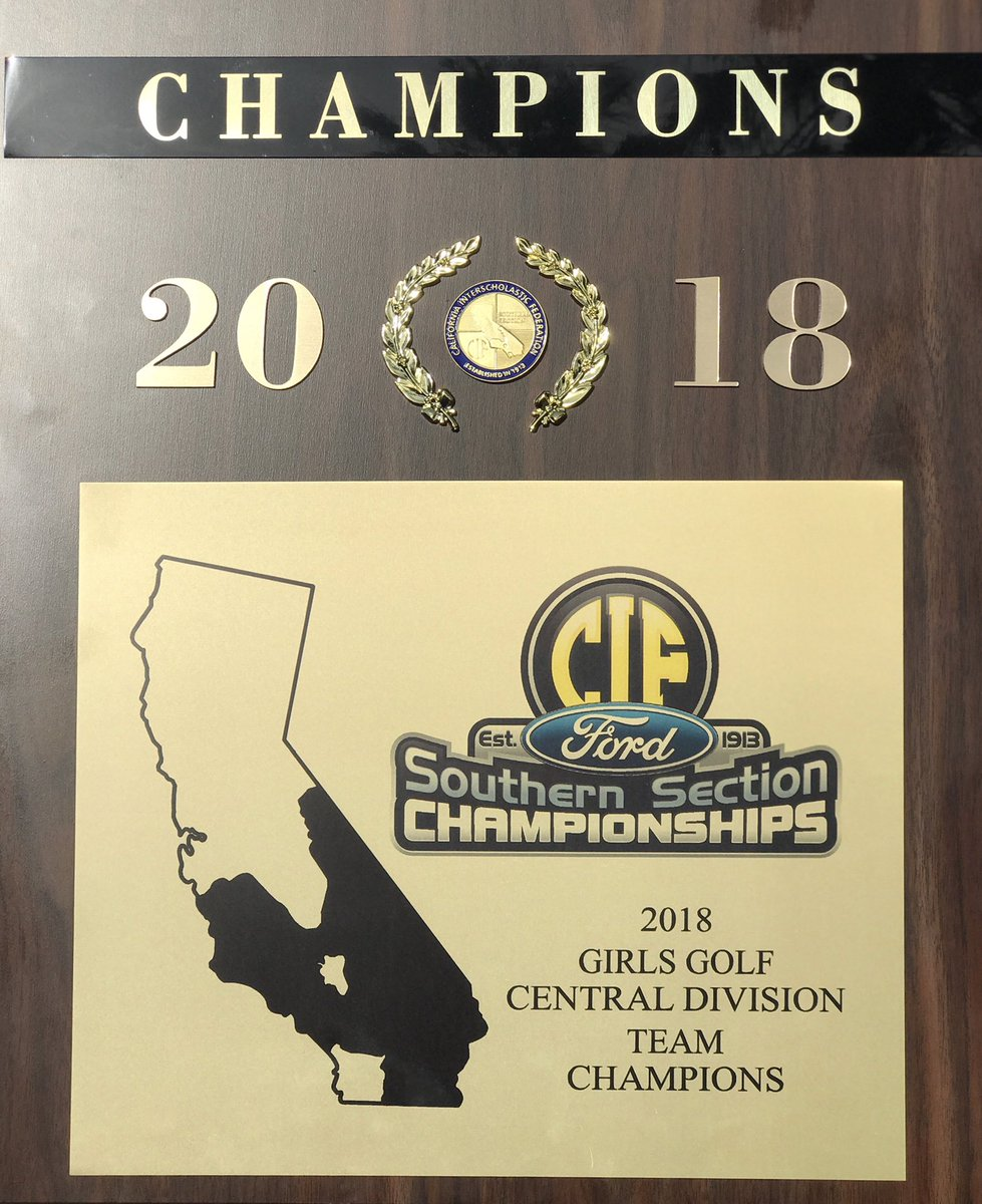 Our Girls Golf's resliency pays off again as they close out a tough Mater Dei high school to earn back-to-back Central Division team champions. Congratulations to all the hard work and sacrifice you made as it paid off! Next step is Thursday's CIF-SS/SCGA Team Qualifier! <br>http://pic.twitter.com/CmLNQzGd0a