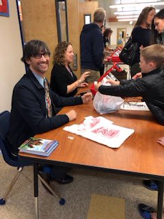 President Leone joined the fun at Central Elementary's Math Night and even pitched in at the book fair. It was a great to see so many students excited to participate in math games and puzzles.