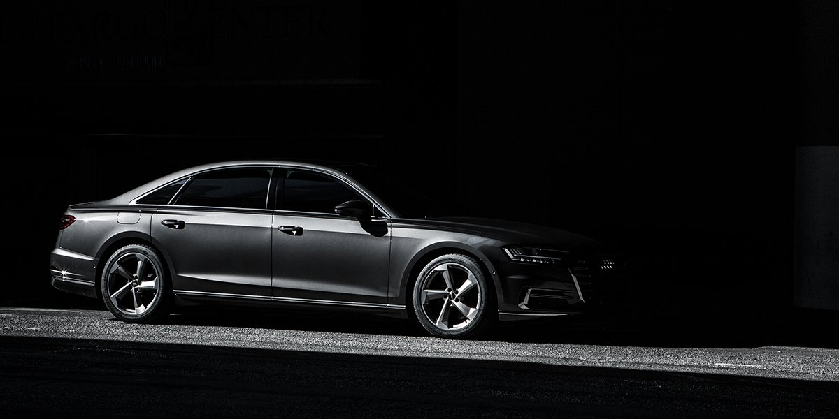 """""""A backseat foot massager isn't necessary"""" and other lies we tell ourselves. #AudiA8"""
