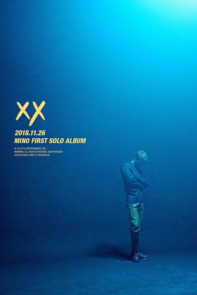 #MINO 'FIRST SOLO ALBUM : #XX' TEASER POSTER  ✅ 2018.11. 26  #미노 #WINNER #위너 #FIRSTSOLOALBUM #XX_mino #YG