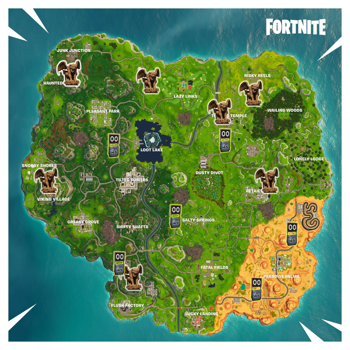 Speed traps in fortnite