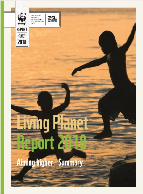 Risultati immagini per living planet report 2018