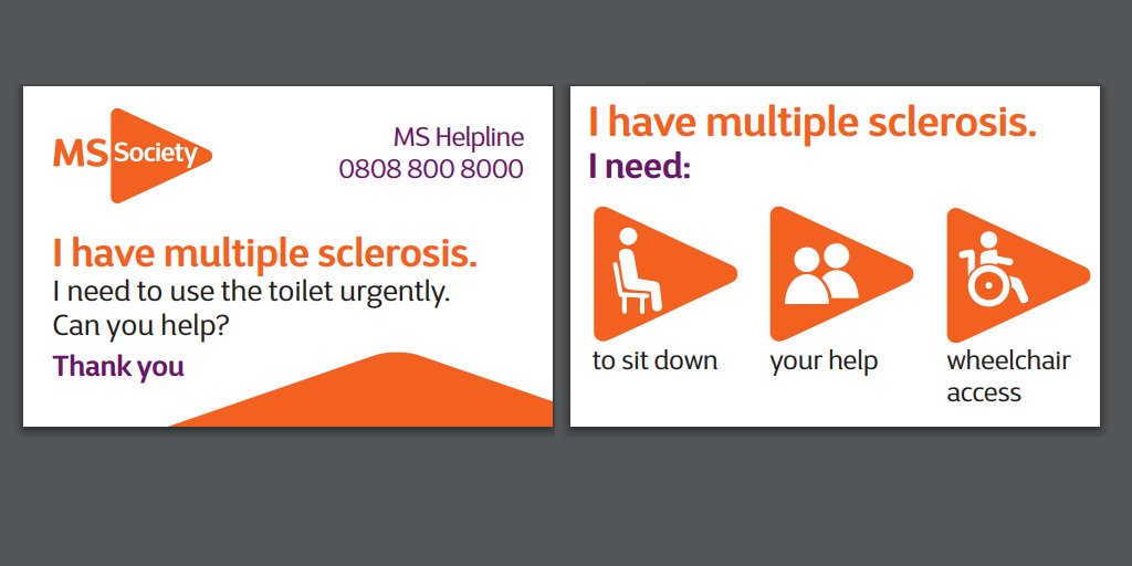 "mssocietyuk on Twitter: ""A few people have asked us about our 'I need help'  card. It's a free credit card-sized card explaining you have #MS and may  need different types of help,"
