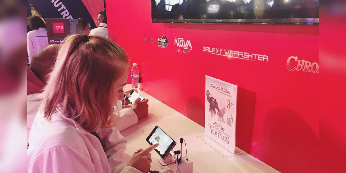 [TOURNOI SFR] #TesUnVraiGamerSi tu viens tester tes #skills 🎮 😏 sur le jeu mobile #SFRJEUX 🛡Viking ⚔️ 1 Max de cadeaux à gagner 🎁#OnVousGâte ⏰ 10h30 début des qualifs 📍Hall 3 espace @SFR @eswc_fr #PGW