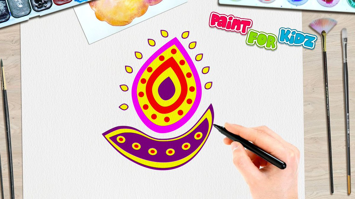 Paint for kidz on twitter how to paint a diwali diya paint for