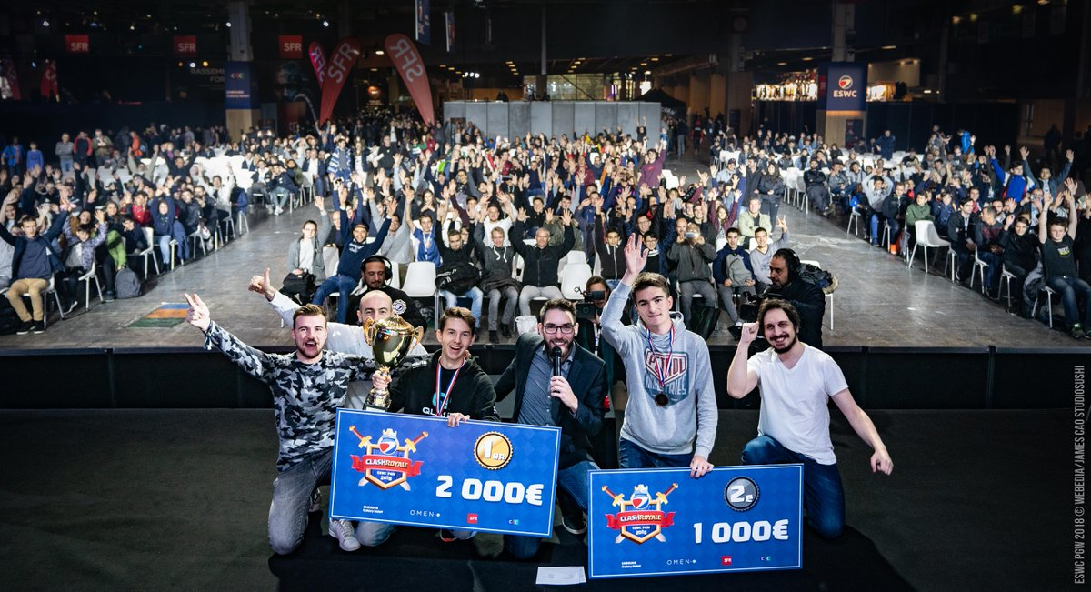 🎖 #ESWCPGW #ClashRoyale - Final results  🏆🥇 @alban2525 - €2000 🥈@Ad_InTToX  - €1000 🥉@mat_deg   - €500 🥉 Nemsensei - €500  Congratulations to the players, Thank you all, and see you soon on Clash Royale event again 😊