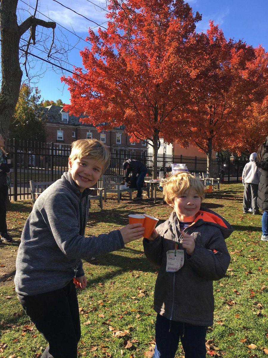 Cheers, Ms. Hellmuth! Congratulations to you and the PA for another fun Harvest Fest @brimmerandmay !!