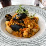 Image for the Tweet beginning: Paella at the #noisylobster Mudeford