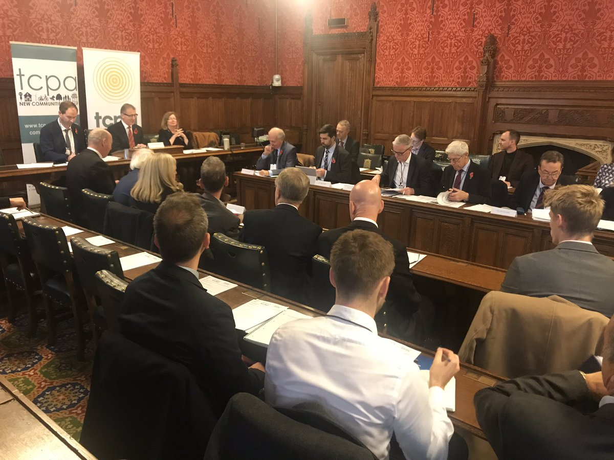 We're here @theTCPA #NewCommunitiesGroup Parliamentary Briefing, hearing from Council Leaders bringing forward new communities in England, hosted by @MarkPawsey with response from @robertabwMP #ukhousing More on the NCG at https://www.tcpa.org.uk/new-communities-group…pic.twitter.com/wUkRrkjbFl