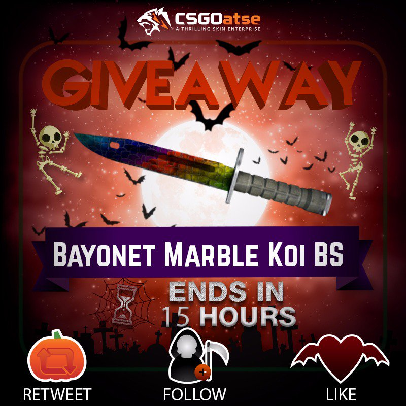 🐯🔥Daily VGO giveaway, Bayonet Marble Koi🔥🐯    ✅Like  ✅Follow ✅Retweet  Good luck, winner is drawn in 15 hours!  Remember to join the $30,000 leaderboard before you begin betting and claim your spot in the rankings! http://csgoatse.com/coinhell