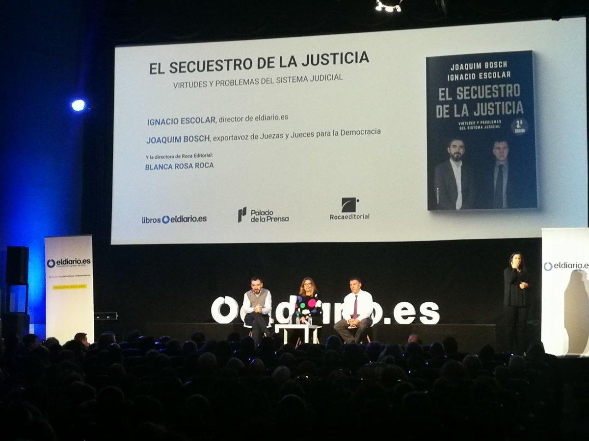 """eldiario.es on Twitter: """". @JoaquimBoschGra: """"Nuestro sistema no está  organizado para atrapar de verdad a los peces gordos cuando han cometido  delitos"""" ..."""