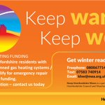 Emergency gas heating funding available for @HfdsCouncil residents ⬇️ - If you've turned your heating on in the cold weather and its had enough - contact us today!