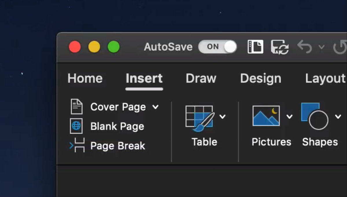 Microsoft Office is getting a dark mode for macOS Mojave