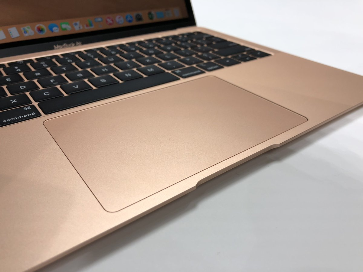 The new MacBook Air. Retina display. Two Thunderbolt 3 ports. Touch ID. Apple T2 chip with Hey Siri. 8th gen Intel Core processors. Butterfly keyboard. A larger Force Touch trackpad. New colors. Louder speakers. Starts at $1,199 with 128GB SSD. Orders begin today.  #AppleEvent