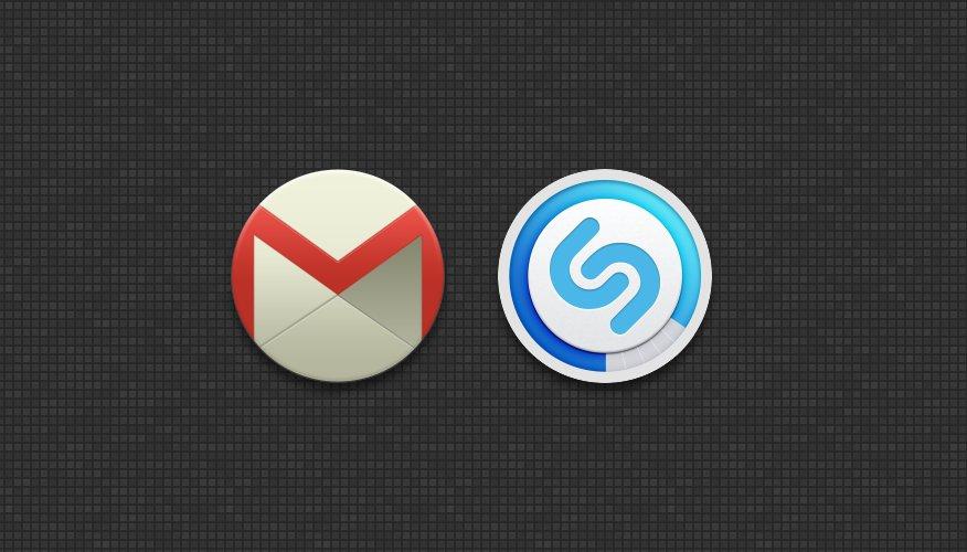 Teddiuz_ #Cosima #Icon #Gmail #Shazam #iOS #Android #Design
