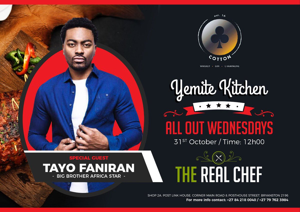 @Tayofaniran: I'm cooking tomorrow 😃🔥🔥🔥🔥🔥 I WILL SHOW YOU THAT I'M THE REAL CHEF 💪🏿 https://t.co/vzd0ETyGil