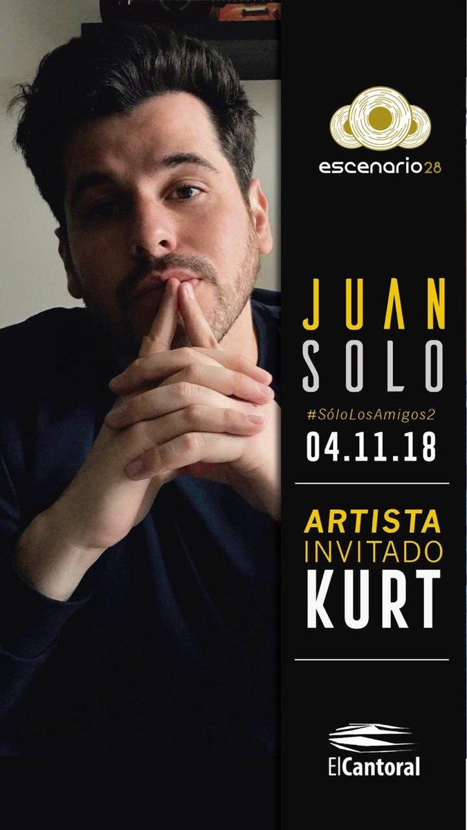 ¡Se acerca la fecha! Este domingo 4, nos vemos #SoloLosAmigos2 en @elcantoral_ con invitados CHIDOS CHIDOS. Hoy @Nachito10 se suma a la lista para cantar... ¿Cuál creen?