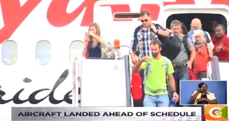 Kq maiden usa flight returns  flight kq003 landed at 9 07am