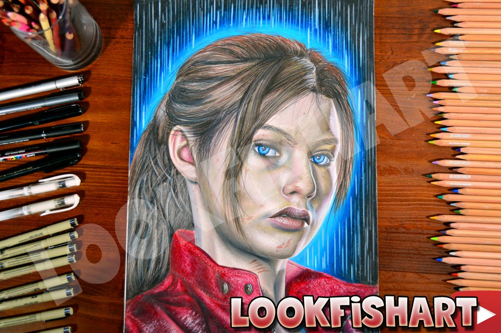 Drawing Resident Evil 2 Remake - Claire Redfield Portrait