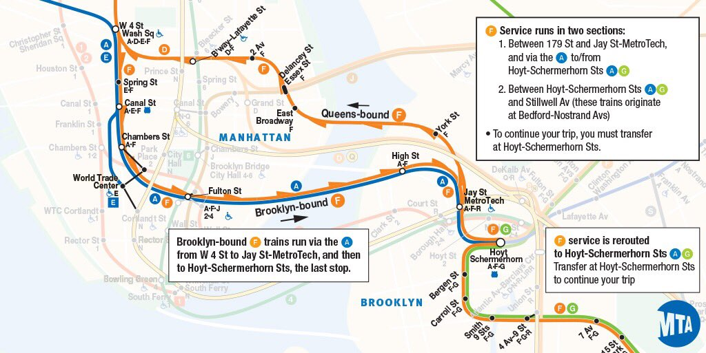 Subway Map F Train Brooklyn.Nyct Subway On Twitter Manhattan And Brooklyn From 11 45 Pm To 5