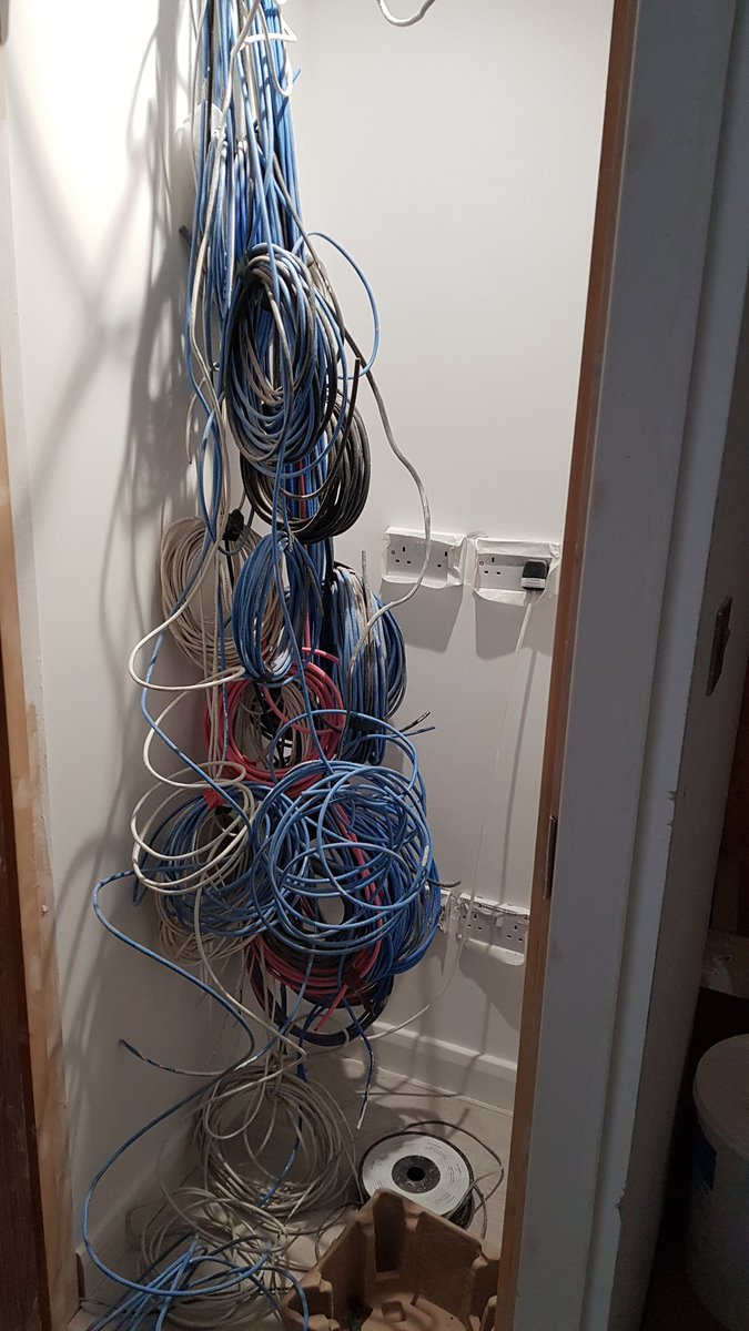 Avhomesuk Ltd Twitter Pre Wiring Home Cable Another Lucky In Harrow Gets A Distributed Av System Sorting Out Wire Cabling Ready For Equipment Rack