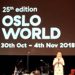 Image for the Tweet beginning: Lancement d'#Osloworld ce soir. Concerts