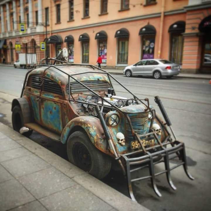 #Car Awesome of the Day: #Steampunk-ish ⚙️ Rusty Blue #RatRod #HotRod 🔧 via @steampunk_music #SamaCars 🚗