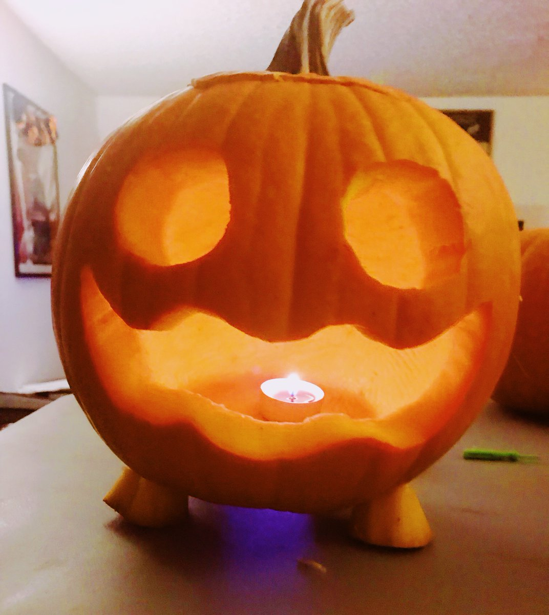 Halloween Pumpkin 2018- Pumpkin from #StevenUniverse!  I had a blast carving this little buddy & making his cute little feet! ✨🎃✨ What kind of pumpkin did you carve this year?  #pumpkin #halloween #pumpkincarving  #fanart #stevenuniversefanart #pumpkins #halloween2018