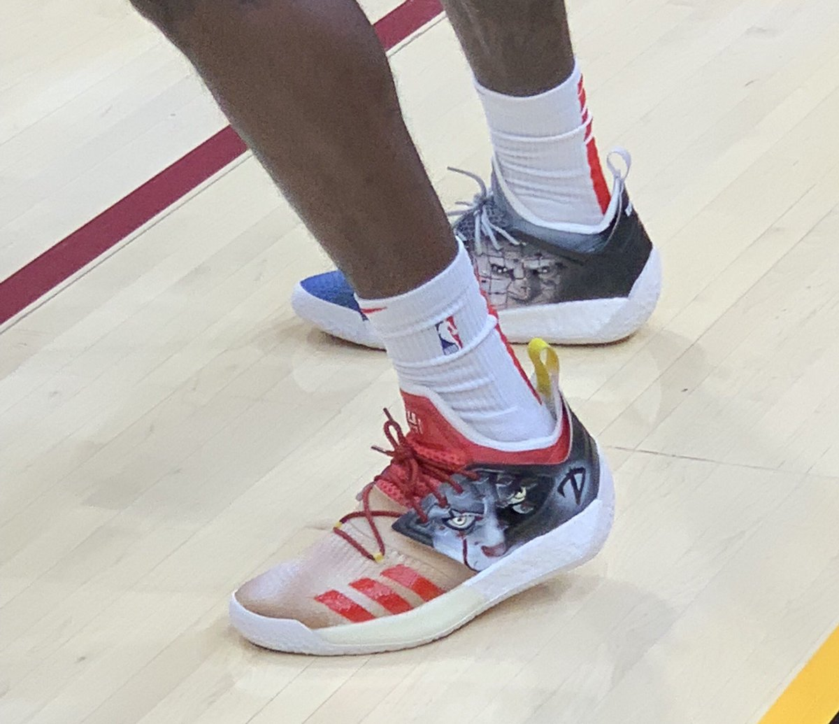 797c01186f6 solewatch taureanprince wearing an adidas harden vol 2 custom for halloween