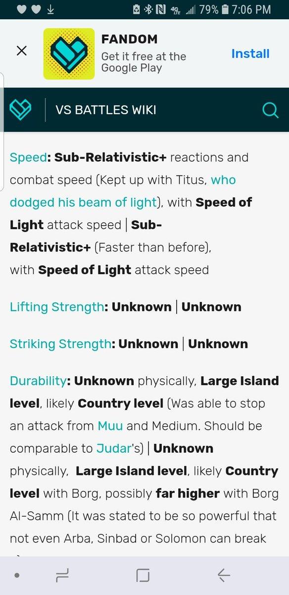 Vs Battle Wiki Strength