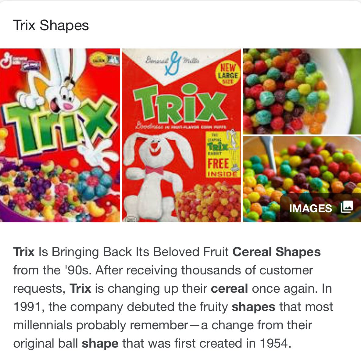 Silly Rabbit Trix Debuted In 1954 Without A Mascot And