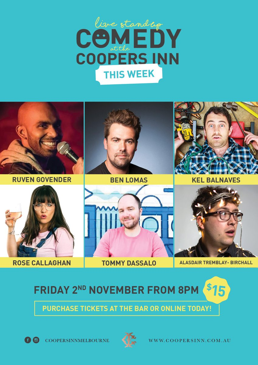 Massive show this friday! Interstate acts and coopers favourites! Prebook http://www.trybooking.com/WDYM