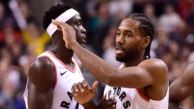 62e9df39f the toronto raptors remain undefeated at home as they beat the philadelphia  76ers 129 112 kawhi