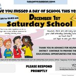 Image for the Tweet beginning: Save the date! Saturday school
