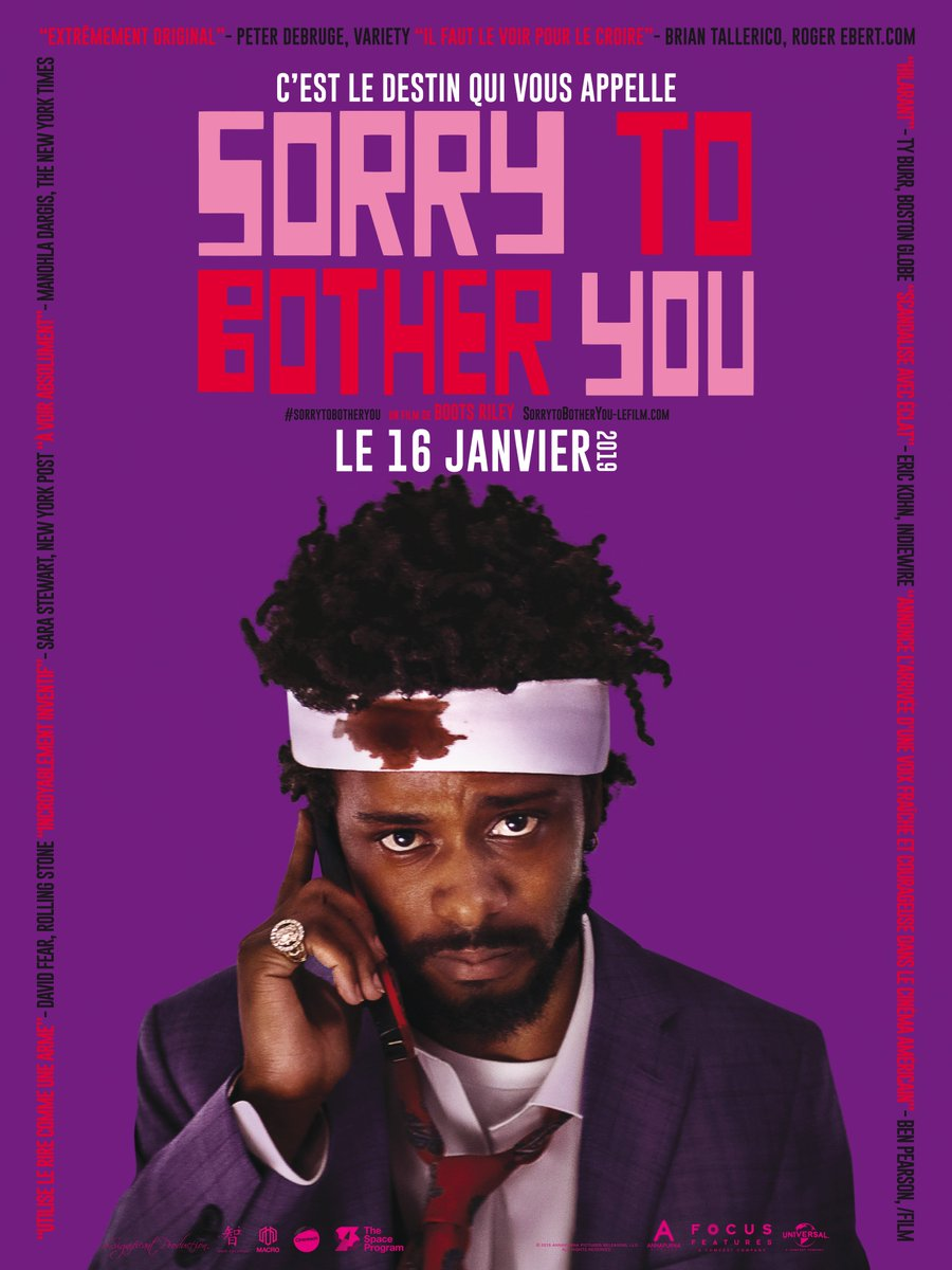 Affiche française Sorry to bother you