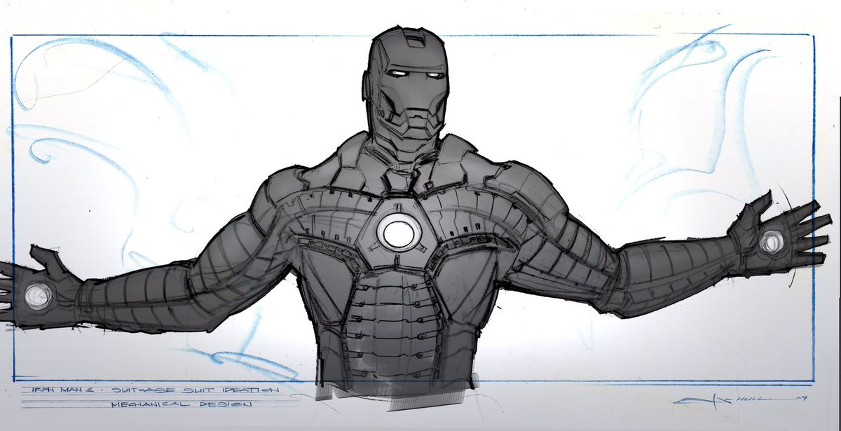 Concept Art Superhero Armor Design