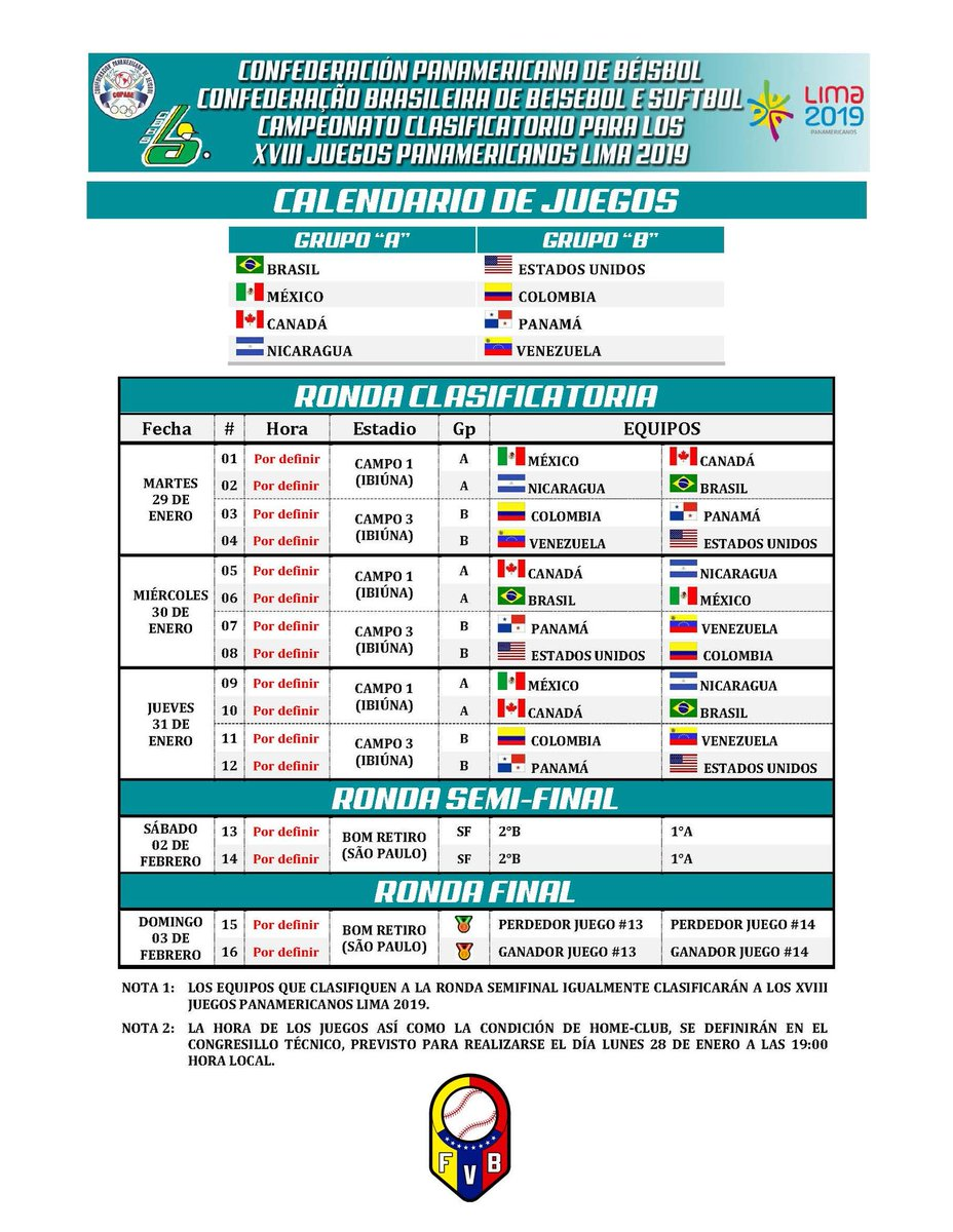 Juegos Panamericanos 2019 Calendario.Nicabeis On Twitter Ya Esta Definido El Calendario Para