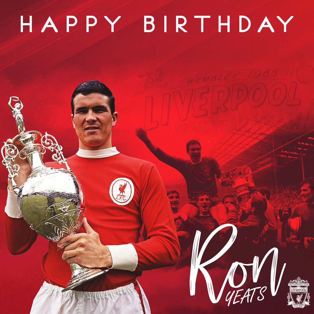 Were wishing a very happy birthday to a footballing giant, Ron Yeats.🎈
