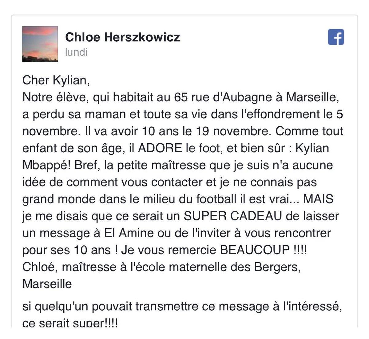 [#L1🇫🇷] 🔴Selon @francebleu, l'appel de cette maîtresse a été entendu et Kylian Mbappé🇫🇷 va rencontrer le jeune enfant et sa maîtresse le 12 décembre. 🙏