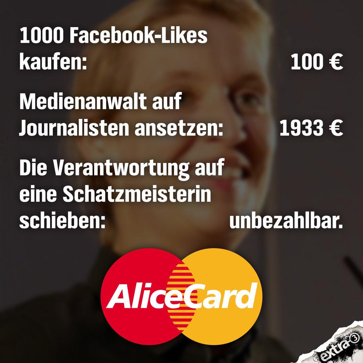 Hinweis: Für Likes gibt es leider kein Geld! #AfD #Weidel