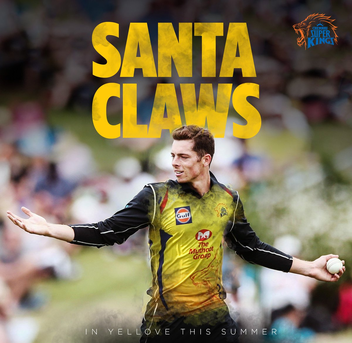 Santa Claws will be sporting #Yellove for the #SummerOf19 bringing along a lot of those prized wickets and vital runs! #WhistlePodu 🦁💛