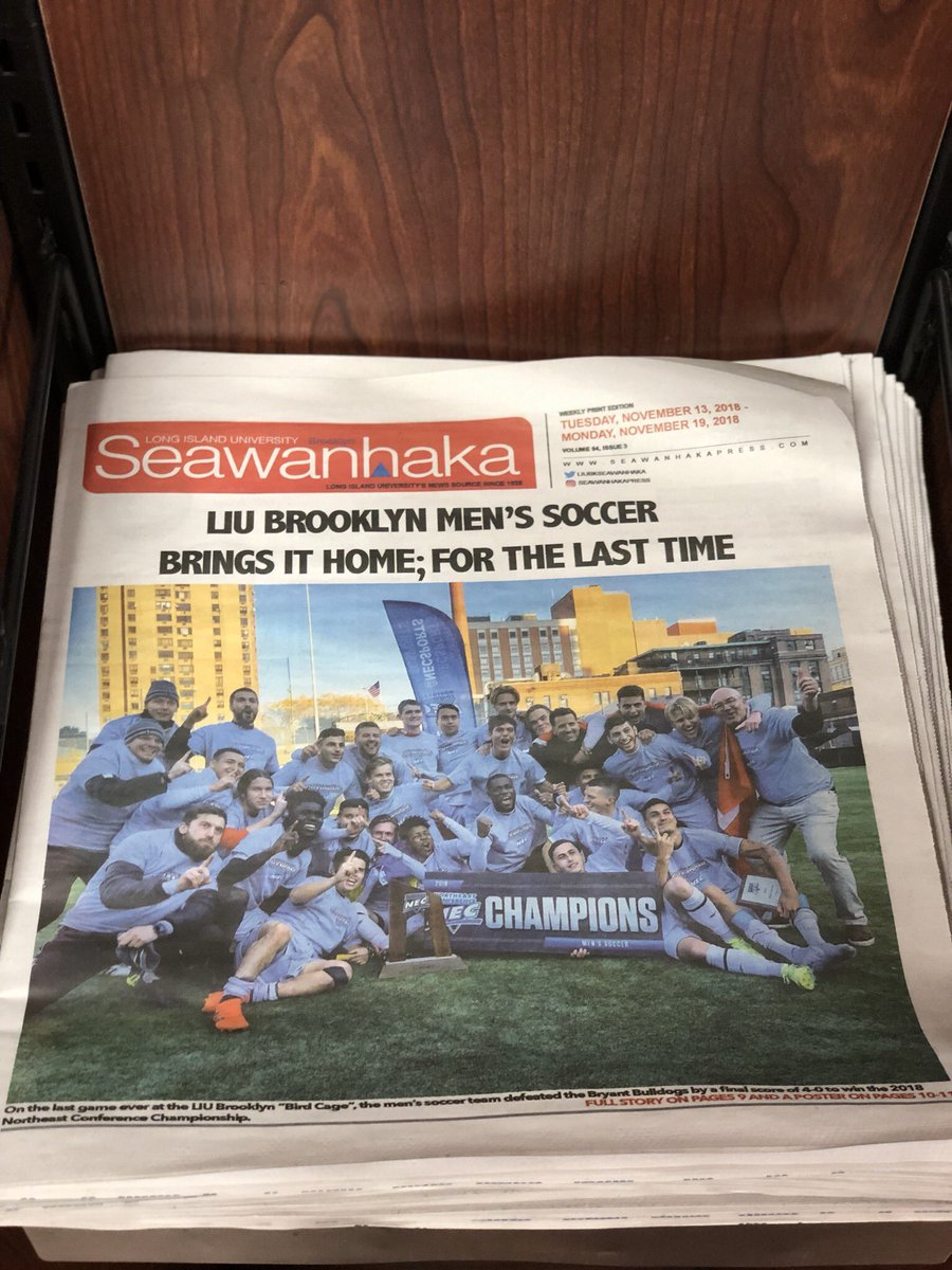 Blackbirds! Be sure to pick up a copy of the new #Seawanhaka issue around campus!📰 #LIUBrooklyn #WeAreLIUBrooklyn #WeGotWords #LIUBlackbirds
