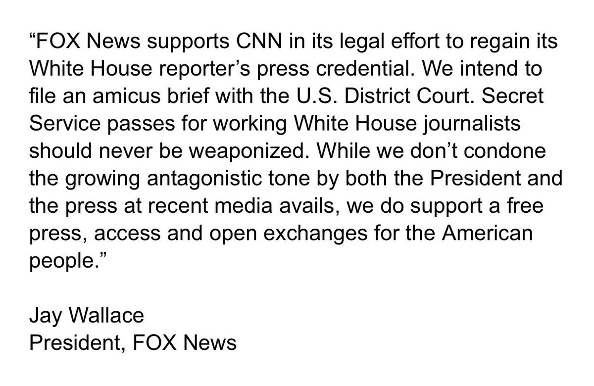 Fox News joins CNN in Acosta battle: