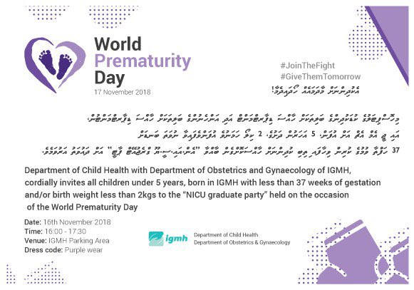 NICU Graduate party is back with more fun! Come and join us on the 16th of November at the Parking Area of IGMH.  #JoinTheFight  #GiveThemTomorrow #WorldPrematurityDay<br>http://pic.twitter.com/crlCImcLZB