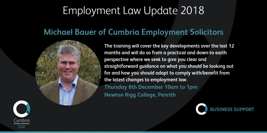 test Twitter Media - Employment Law Update 2018 – 6th December @ConferencesNrc with Michael Bauer from Cumbria Employment Solicitors. Booking & more info at https://t.co/VqD4QSF1bp https://t.co/YtLHoaRsva