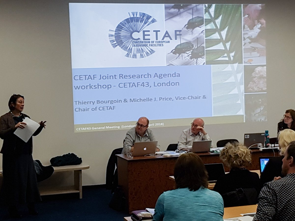 CETAF Chair Michelle J. Price discussing the CETAF Joint Research Agenda at CETAF44